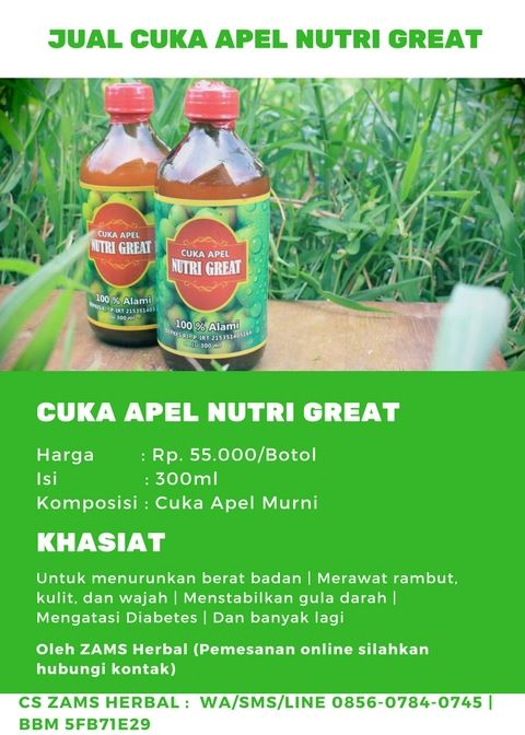Jual Cuka Apel Nutri Great di Apotik